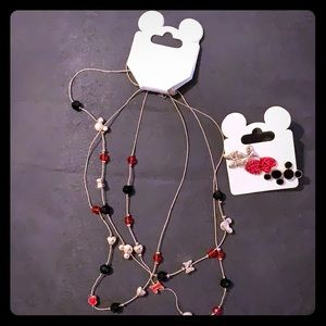 Bundle, Disney necklace and earrings